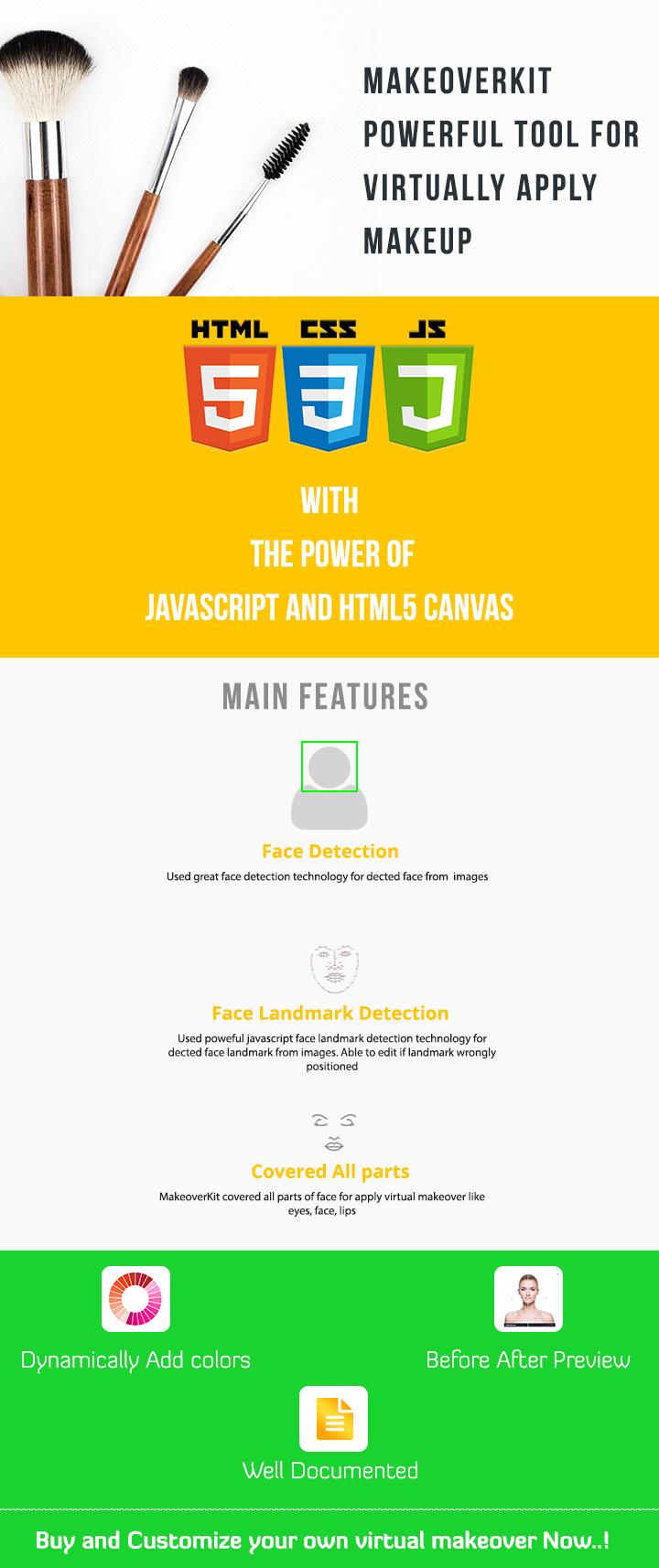 MakeoverKit | HTML5 Virtual Makeover Tool - 1 MakeoverKit | HTML5 Virtual Makeover Tool Nulled Free Download desc